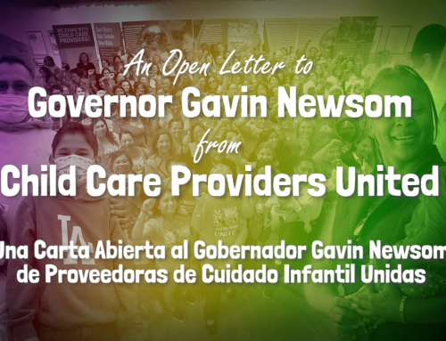 An Open Letter to Governor Gavin Newsom from Child Care Providers